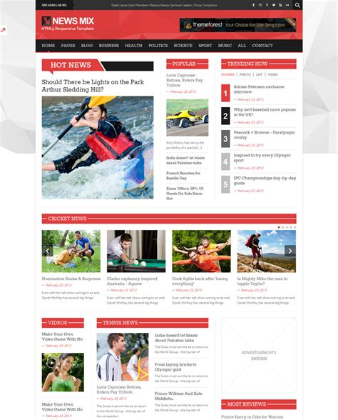 Premium Collection Of Html News Website Templates News Website Templates