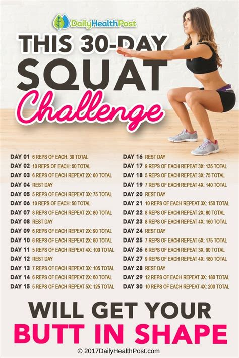30 day squat challenge for this 30 day squat challenge will get your in shape