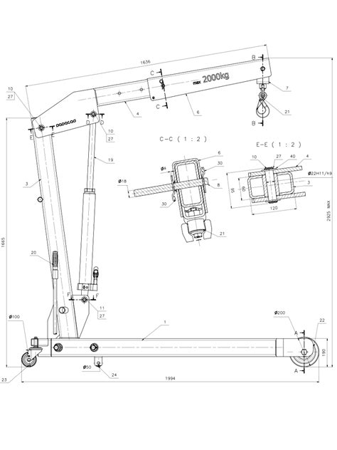 workshop layout dwg foldable shop crane workshop crane design cad drawings