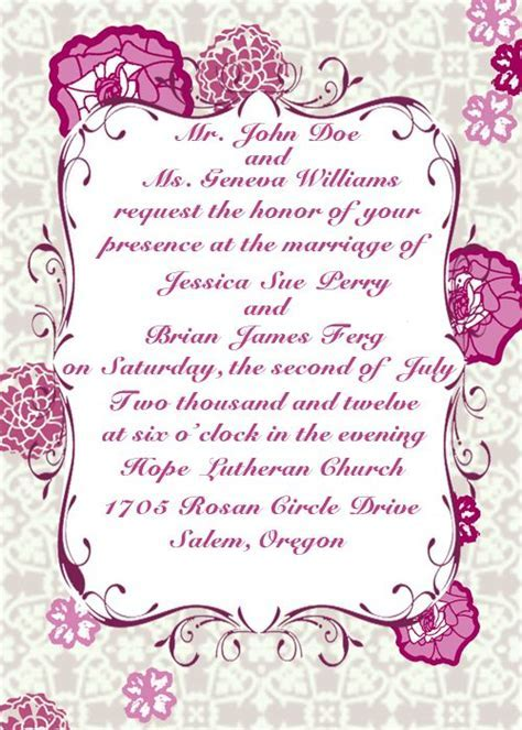 how to make your wedding invitations wording