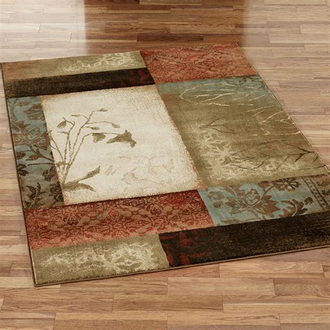 3x5 Bathroom Rugs Impression Leaf Area Rugs