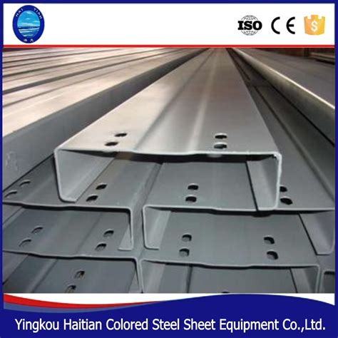 c steel sections roll formed steel profile c purlin cold rolled lipped