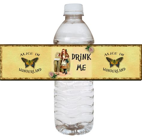 drink bottle label template in drink me water bottle labels