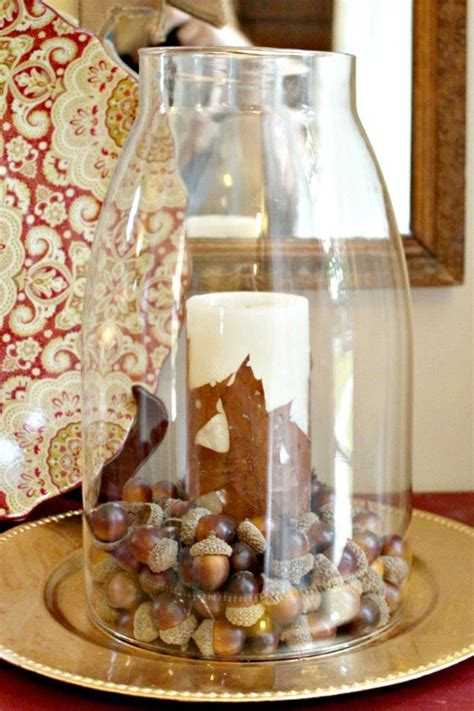 diy pottery barn knock candle with leaves hometalk