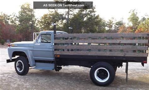 stake bed truck 1968 ford f 600 stake bed truck rebuilt 1160 caterpillar