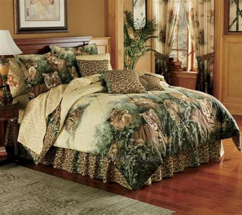 cat comforter sets wild cat lions tiger comforter set twin full queen king ebay