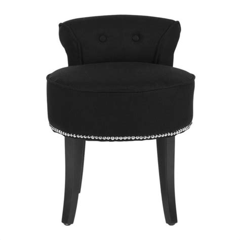 Vanity Stool Black by Safavieh Birch Wood Vanity Stool In Black Mcr4546j
