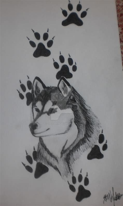 husky tattoo by lifeasanem0 on deviantart