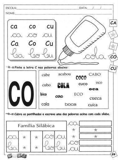 Calendario M J B Atividades Escolares As Consoantes B C D F G J L