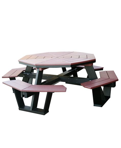 poly 5 octagon picnic table amish direct furniture