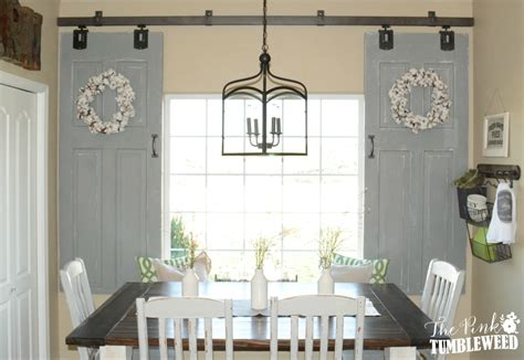 Sliding Barn Door Window Treatment The Pink Tumbleweed Barn Door Window