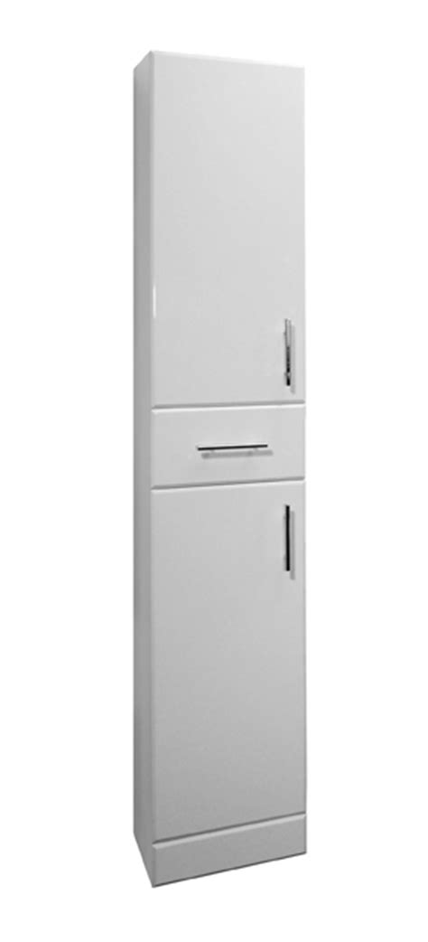 white gloss tall 2 door bathroom cabinet with 1 mirrored tall vanity unit cupboard cabinet cloakroom bathroom 350mm