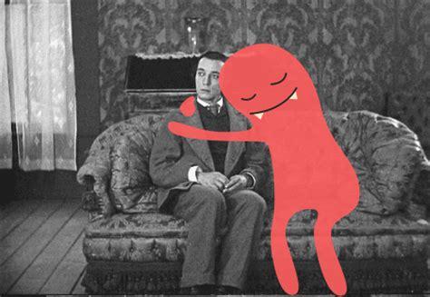 Anime Hug Gif by Buster Keaton Hugs Gif By Laurelia Find On Giphy