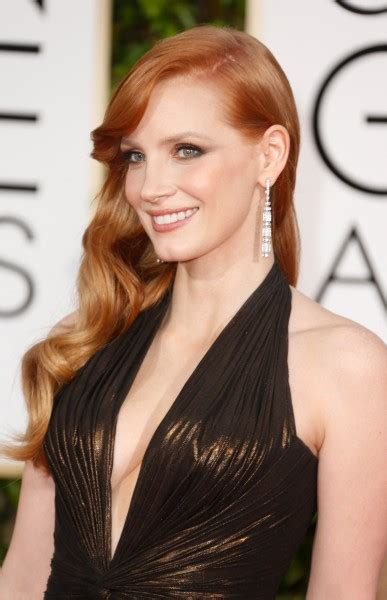 Versace Alma Glossy get chastain s look from the 2015 golden