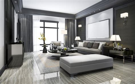 wallpapers modern interior design living room
