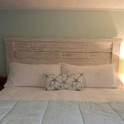 white painted headboards king headboard made from pallet wood painted and