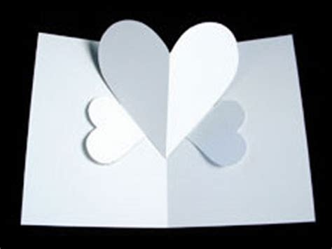diy pop up card heart shape for valentine pepakura corner