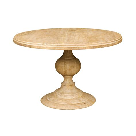 48 round dining 48 quot round pedestal dining table in white wash zin home