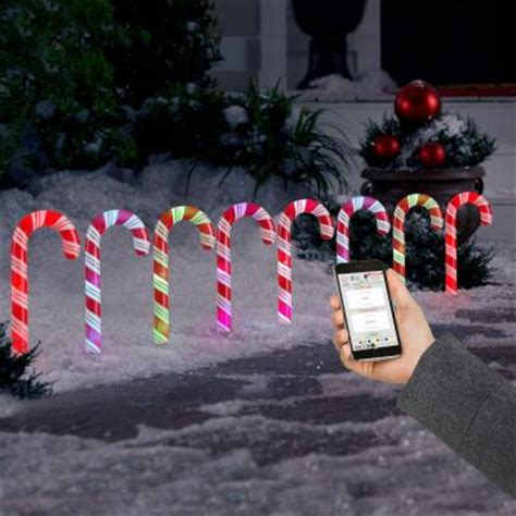 candy cane light stakes lightshow applights led candy cane pathway light stakes