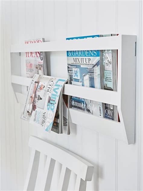 White Wall Magazine Rack by White Wall Magazine Rack
