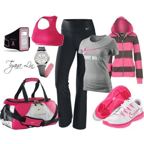 light pink workout clothes cute pink black and grey workout clothes workout swag