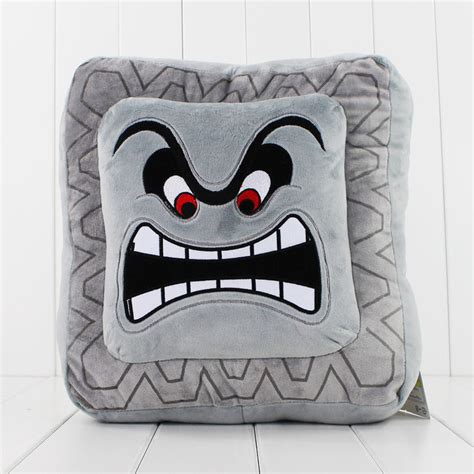 Thwomp Pillow by Mario Thwomp Cushion Gifts For Gamers