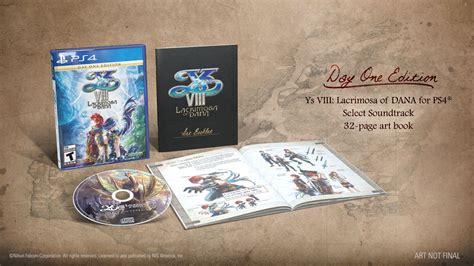 Kaset Ps4 Ys Viii Lacrimosa Of Day One Edition ys viii lacrimosa of the explorers of seiren trailer gematsu