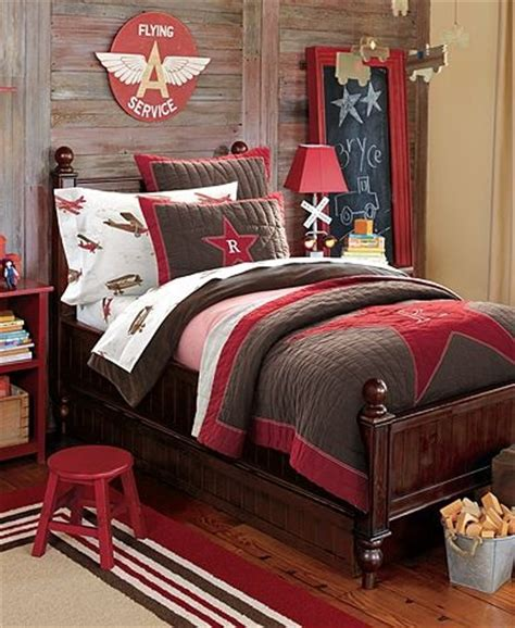 brown and red bedroom star bedding with denim and gingham sheets love brown and