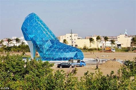 house shaped like a shoe taiwanese town builds a high heel shoe shaped church to attract female worshippers