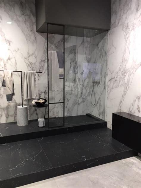 cabina doccia muratura box doccia walk in grandi lastre vetro trasparente e