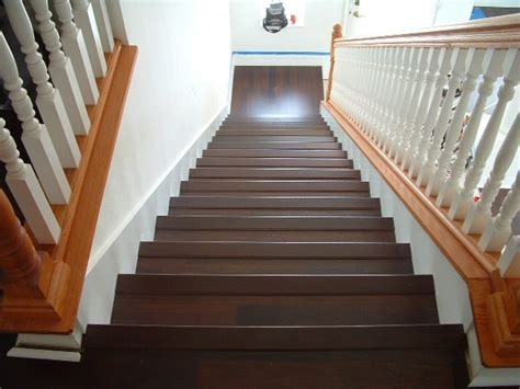 big white staircase beautiful wooden floors high installing laminate flooring on stairs diy stairs