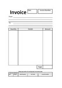 Blank Invoice Template Uk Doc 433576 Blank Invoice Document Blank Invoice