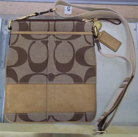 Coach Authentic 8 authentic coach khaki side bag