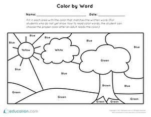 Nursery Land Early Character Education Book 1 preschool sight words worksheets free printables