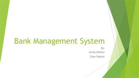Bank Management bank management system