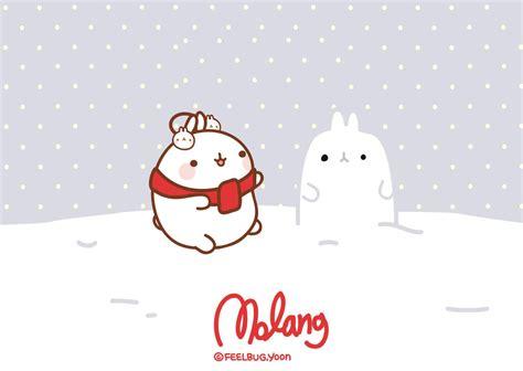 christmas wallpaper kawaii wallpaper navidad molang by leyfzalley on deviantart