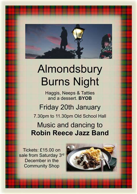 burns menu template burns almondsbury