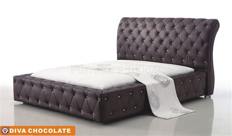 diva bed diva chocolate tufted bed by american eagle