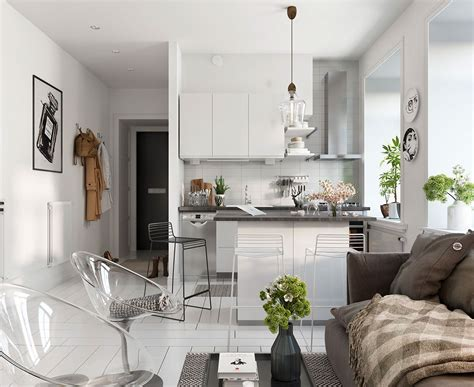 scandinavian decor bright scandinavian decor in 3 small one bedroom apartments
