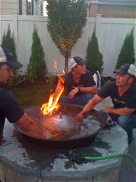 outdoor custom and water feature firefalls with