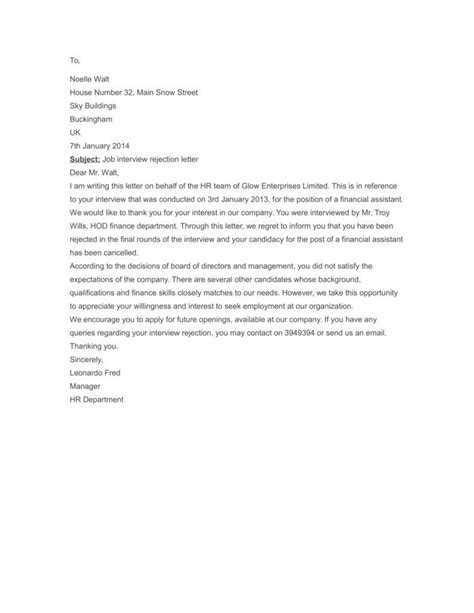 Rejection Letter With Reasons 3 reasons employment rejection letters matter free