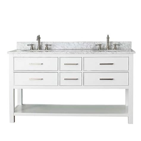 Bathroom Vanity With Top Combo White 60 Inch Vanity Combo With White Marble Top Avanity Vanities Bathroom