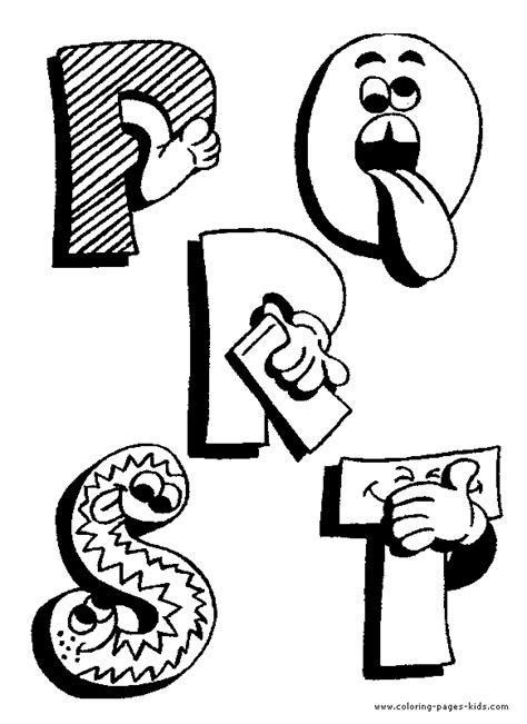 Funny Alphabet color pages   Coloring pages for kids