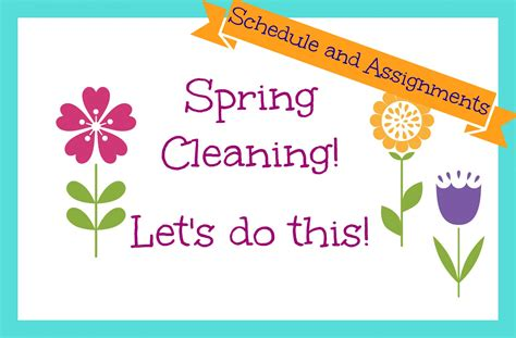 spring cleaners spring cleaning create a schedule and assign tasks