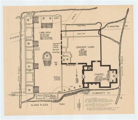 alamo floor plan 1836 san antonio the alamo 1835 1836 topographies