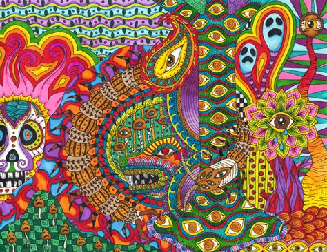 best psychedelic mushrooms psychedelic colourful drawings by liquid andrei