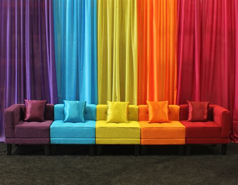 colorful furniture kaleidoscope furniture town country event rentals