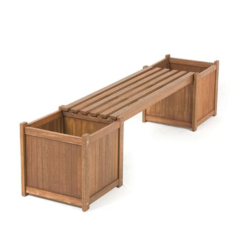 garden box bench greenfingers loreto fsc shorea planter box bench on sale