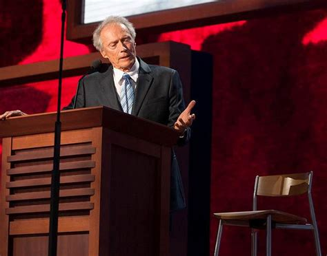 Clint Eastwood Talking To Chair by Barack Obama Sharp Right Turn