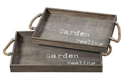 Gartendeko Holz Grau by Deko Tablett Garden Feeling Holztablett Shabby Landhaus In